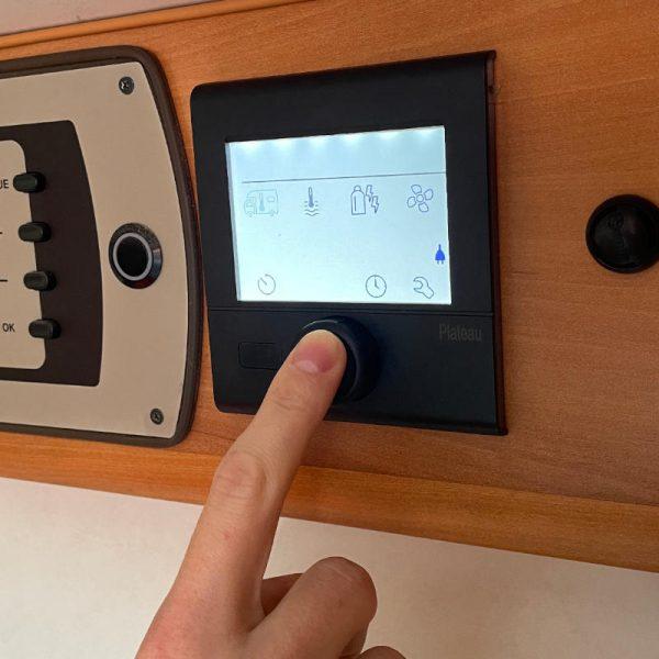 control panel for motorhome and caravan combi heaters